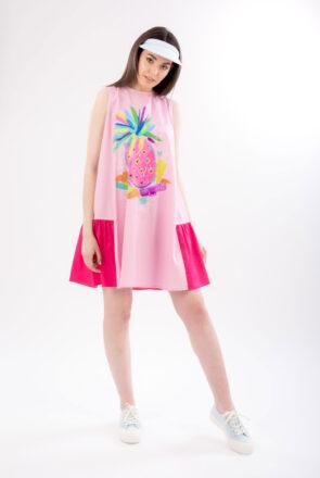 rochie-roz-ampla-pictata-pina-1