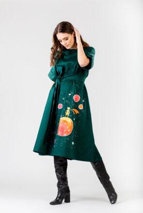 rochie-midi-verde-cu-cordon-avery-1