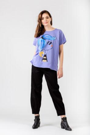 tricou-lila-pictat-frida-1