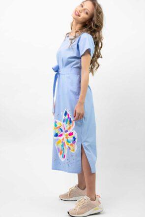 rochie-midi-bleu-fluture-mira-1